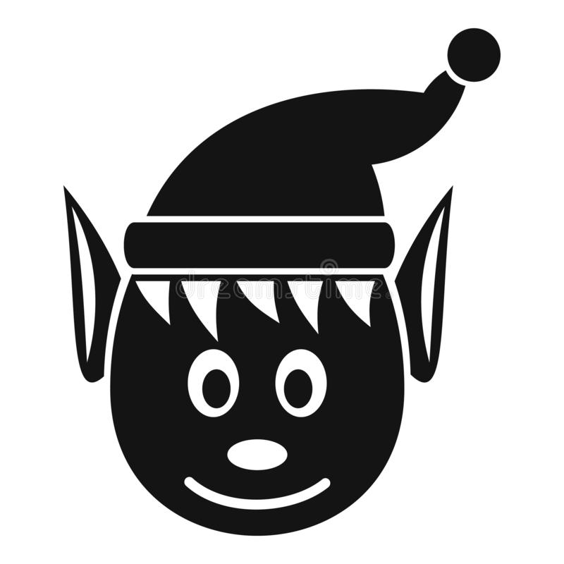 Icône féerique principale, style simple illustration stock