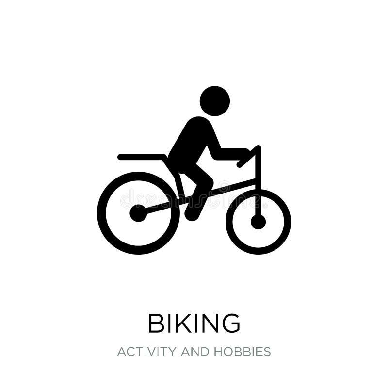 icône faisante du vélo dans le style à la mode de conception icône faisante du vélo d'isolement sur le fond blanc symbole plat si illustration stock
