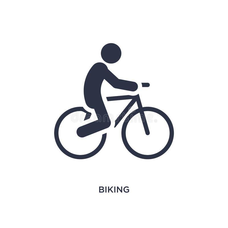 icône faisante du vélo sur le fond blanc Illustration simple d'élément de concept d'activités illustration stock