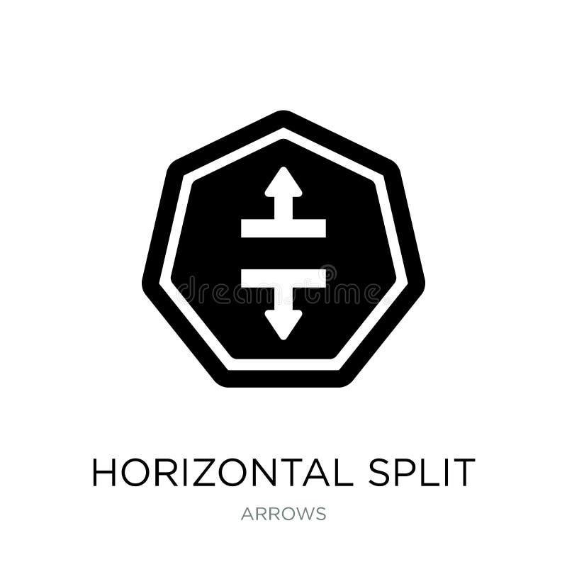 icône fendue horizontale dans le style à la mode de conception icône fendue horizontale d'isolement sur le fond blanc icône fendu illustration de vecteur