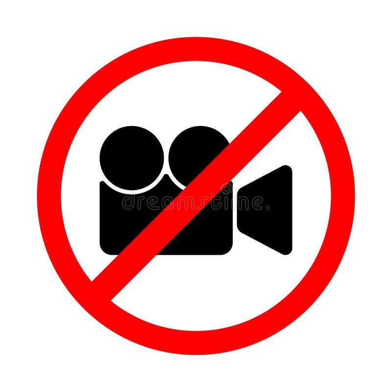 Icône filmante visuelle interdite Illustration de vecteur d'une collection de signes d'interdiction illustration libre de droits