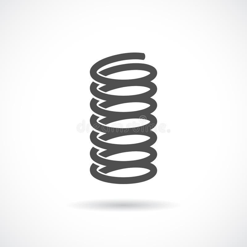 Icône flexible de vecteur de ressort illustration stock