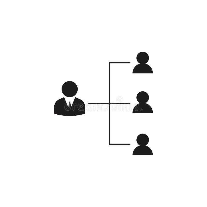icône fonctionnante de hiérarchie Icône détaillée de l'icône principale de chasse et d'employés Conception graphique de qualité d illustration libre de droits