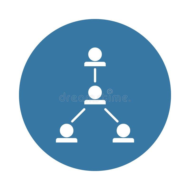 icône fonctionnante de hiérarchie dans le style d'insigne illustration libre de droits