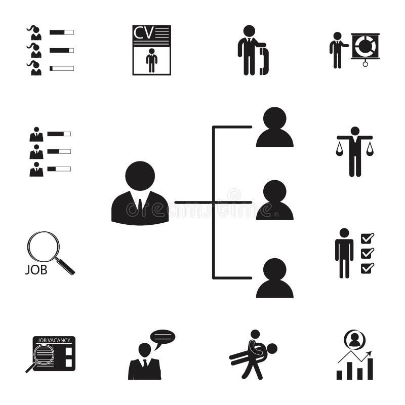 icône fonctionnante de hiérarchie Ensemble détaillé d'icônes de chasse d'heure et de chaleur Signe de la meilleure qualité de con illustration de vecteur
