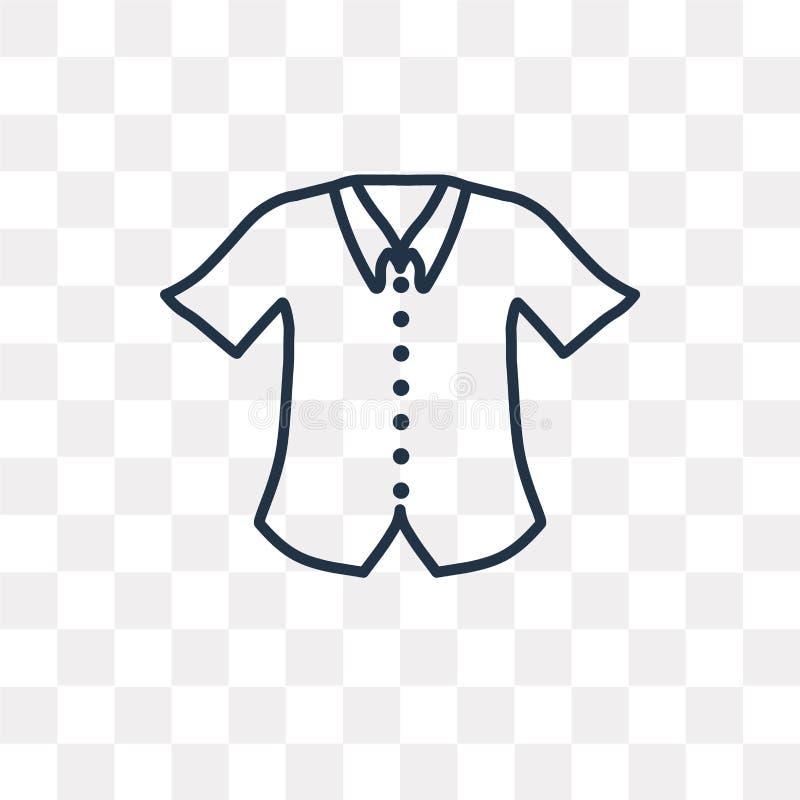 Icône formelle de vecteur de chemise d'isolement sur le fond transparent, lin illustration de vecteur