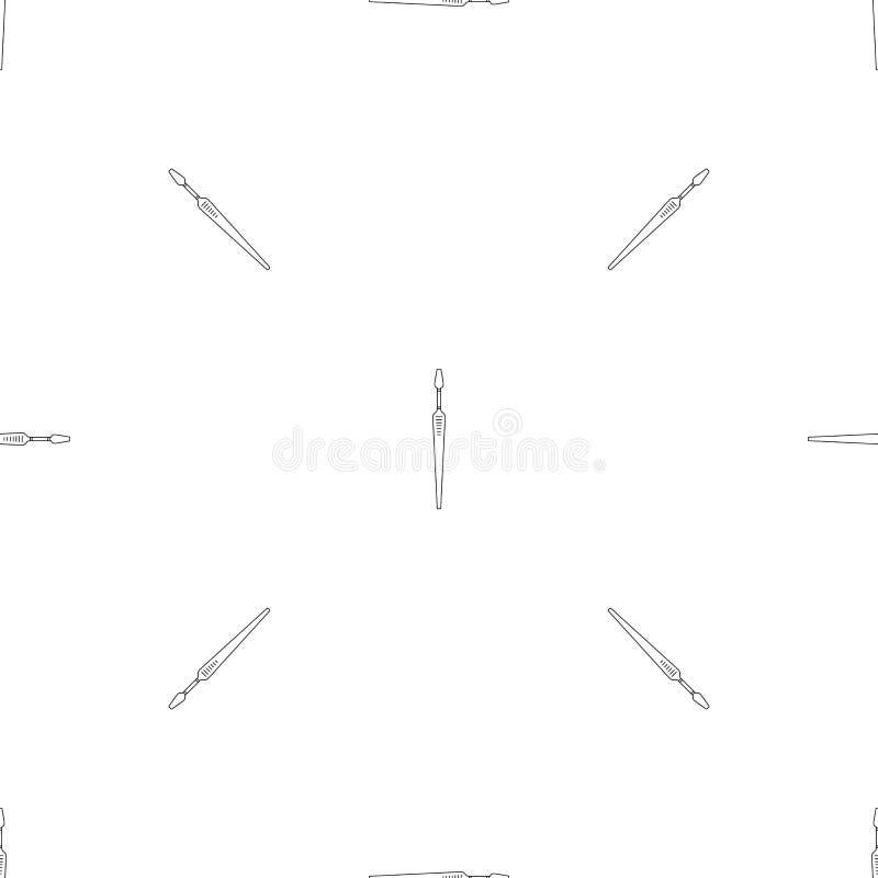 Icône forte de brosse à dents, style d'ensemble illustration libre de droits