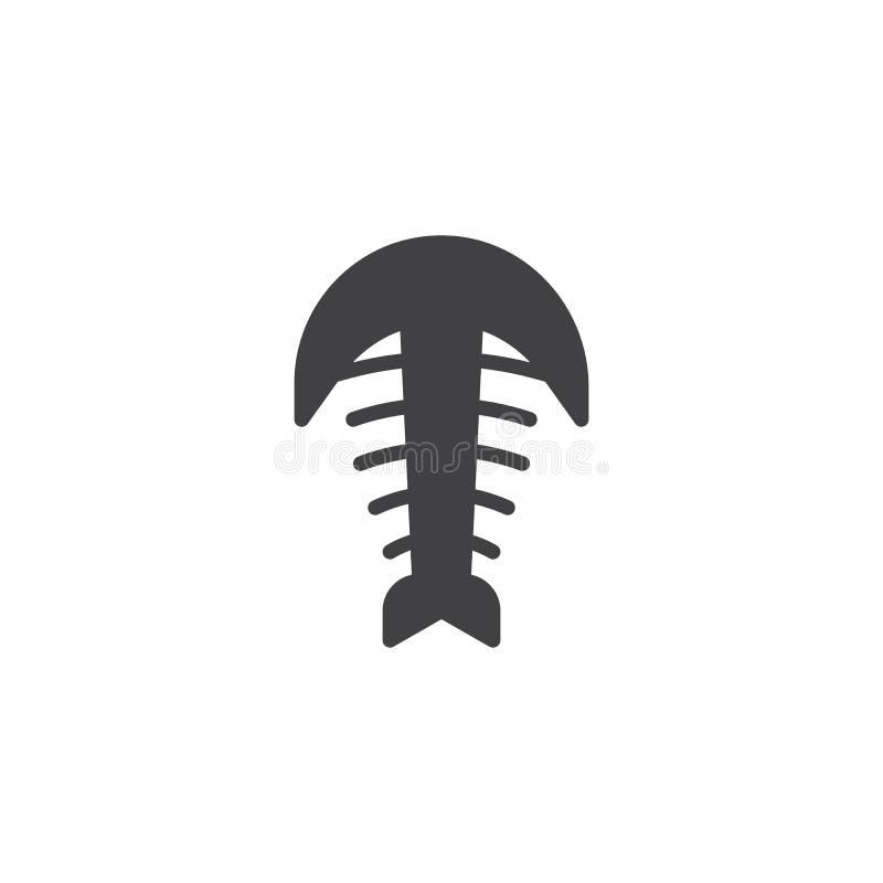 Icône fossile de vecteur d'arthropode illustration de vecteur