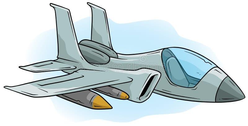 Icône fraîche de vecteur de Jet Fighter d'air de bande dessinée illustration libre de droits