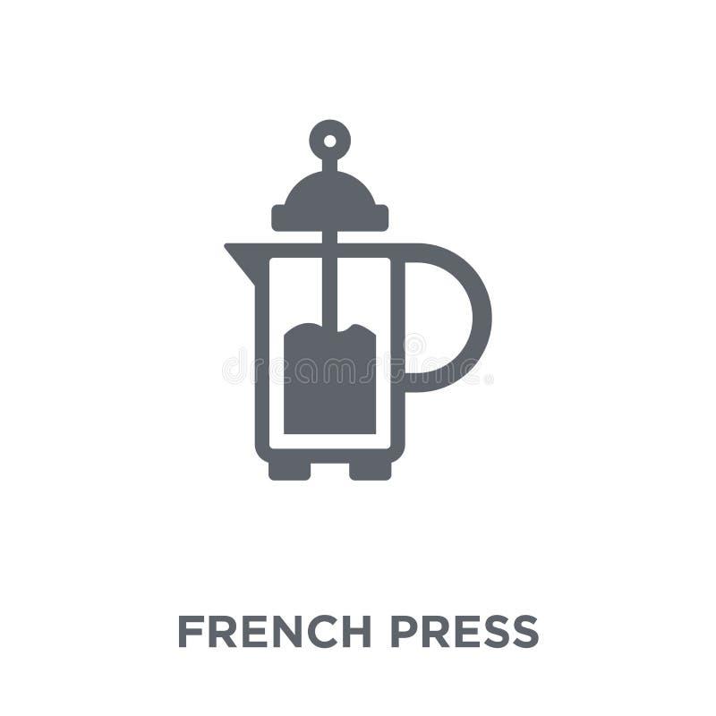 Icône française de presse de collection illustration de vecteur