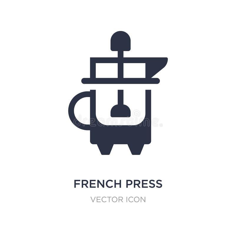 icône française de presse sur le fond blanc Illustration simple d'élément de concept de boissons illustration stock