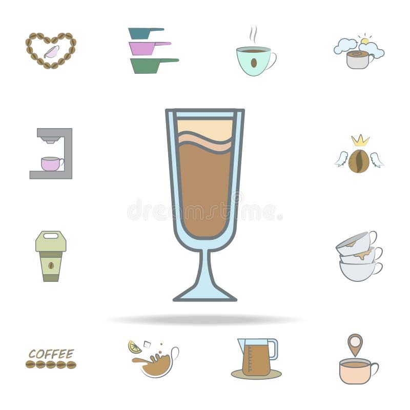 icône froide de café ensemble universel d'icônes de café pour le Web et le mobile illustration stock