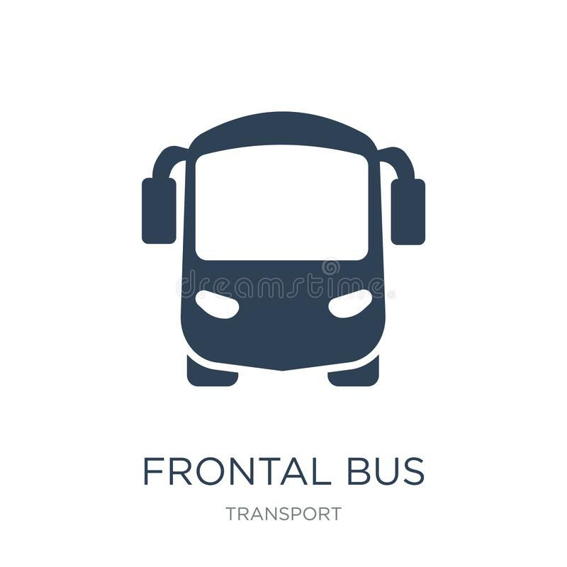 icône frontale d'autobus dans le style à la mode de conception Icône frontale d'autobus d'isolement sur le fond blanc icône front illustration libre de droits