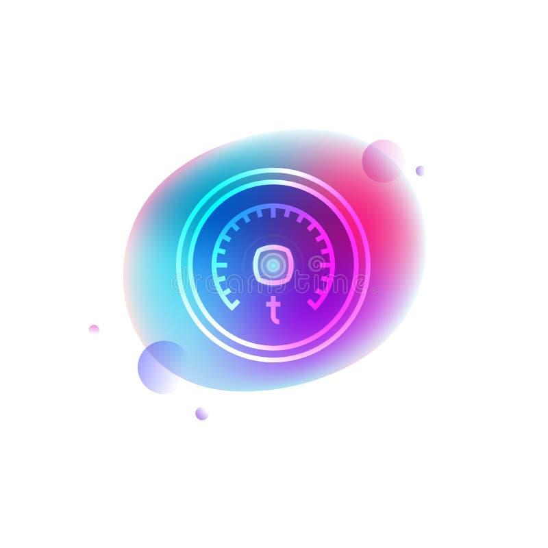 Icône futée de néon de thermostat illustration libre de droits