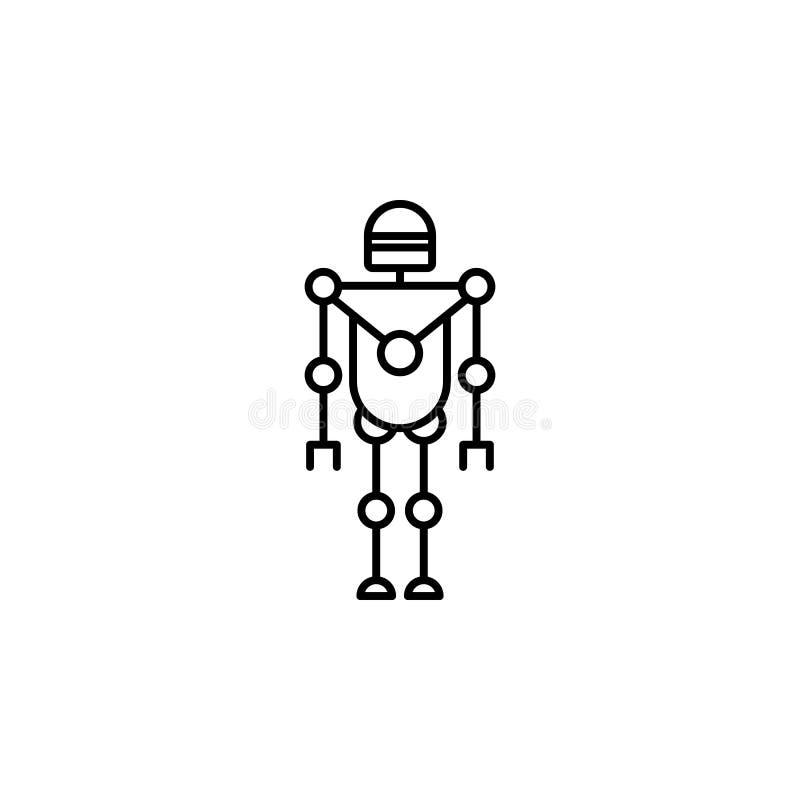 Icône futée de robot Élément de la future icône de technologie pour les apps mobiles de concept et de Web La ligne mince icône fu illustration libre de droits
