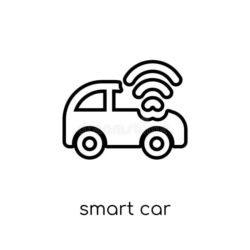 Icône futée de voiture Icône futée de voiture de vecteur linéaire plat moderne à la mode illustration libre de droits