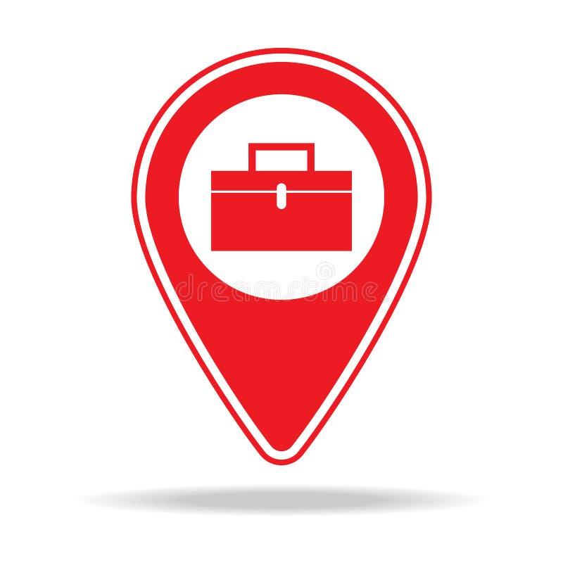 icône générale de goupille de carte d'entrepreneur Élément d'icône d'avertissement de goupille de navigation pour les apps mobile illustration libre de droits