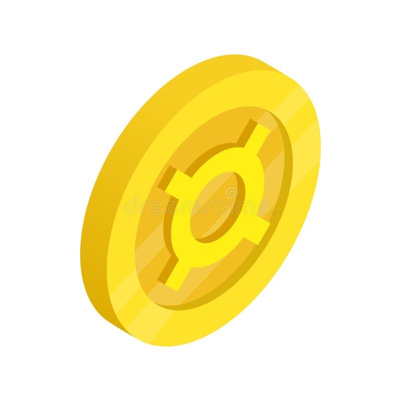 Icône générique de symbole monétaire, style 3d isométrique illustration libre de droits