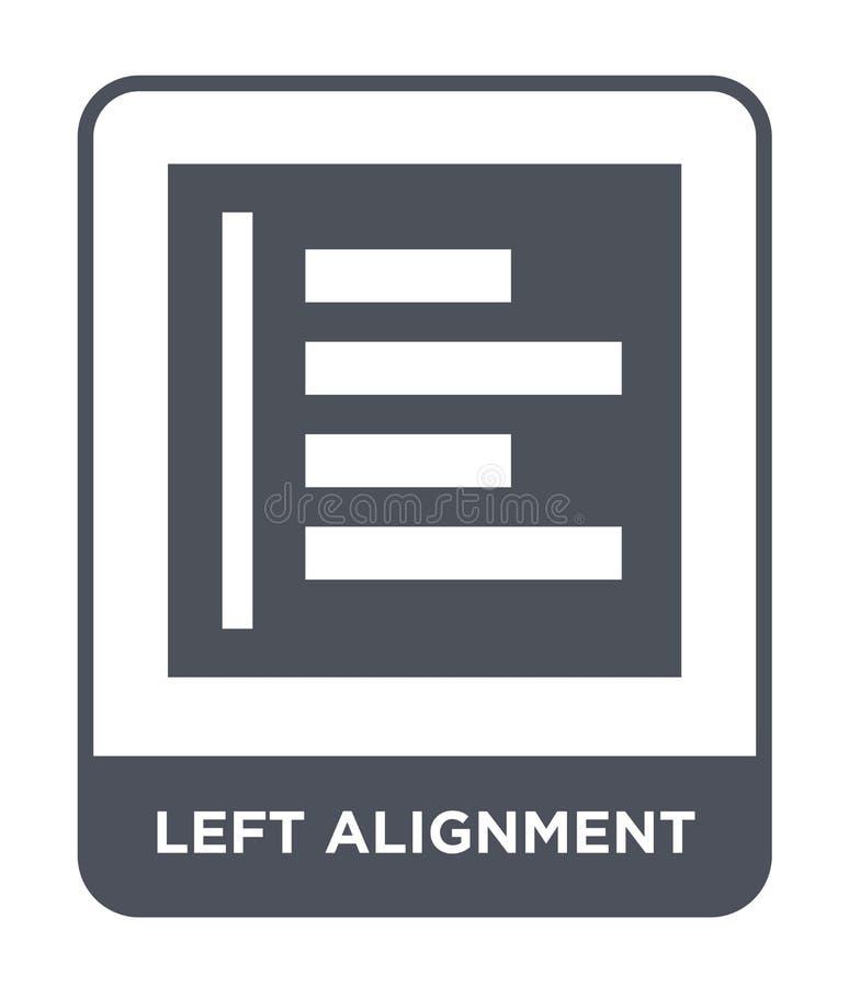 icône gauche d'alignement dans le style à la mode de conception icône laissée d'alignement d'isolement sur le fond blanc icône ga illustration stock