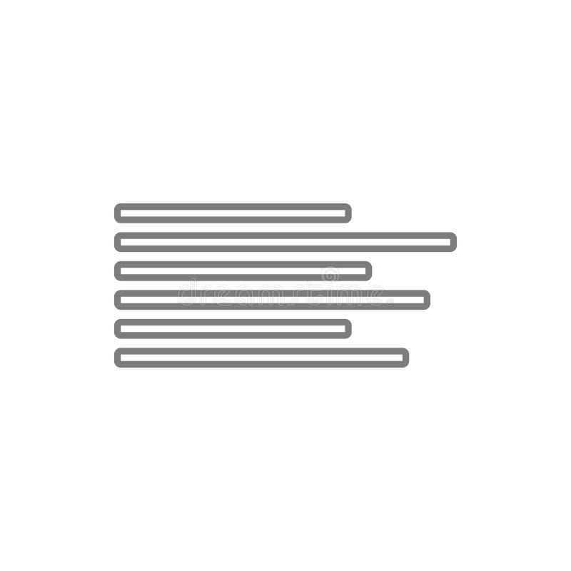 Icône gauche d'alignement des textes Élément de sécurité de cyber pour le concept et l'icône mobiles d'applis de Web Ligne mince  illustration libre de droits