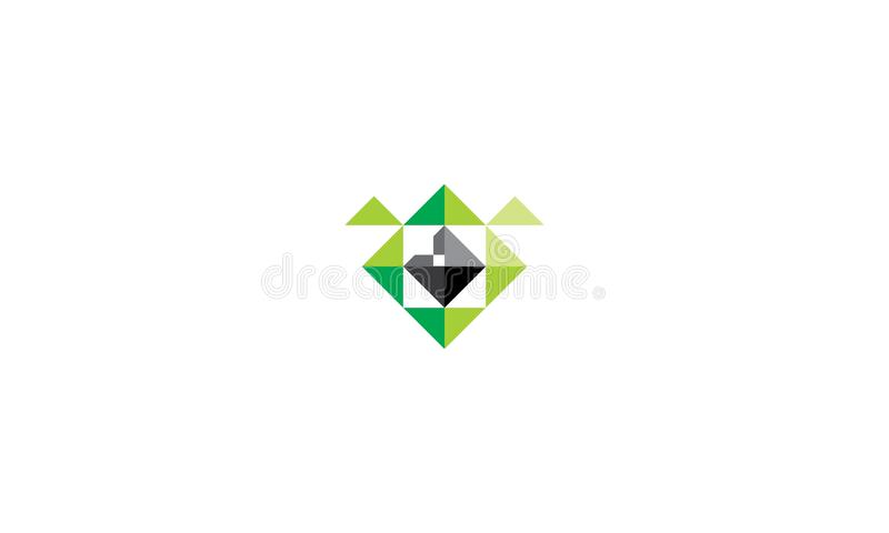 Icône globale de vecteur de logo de monstre illustration libre de droits