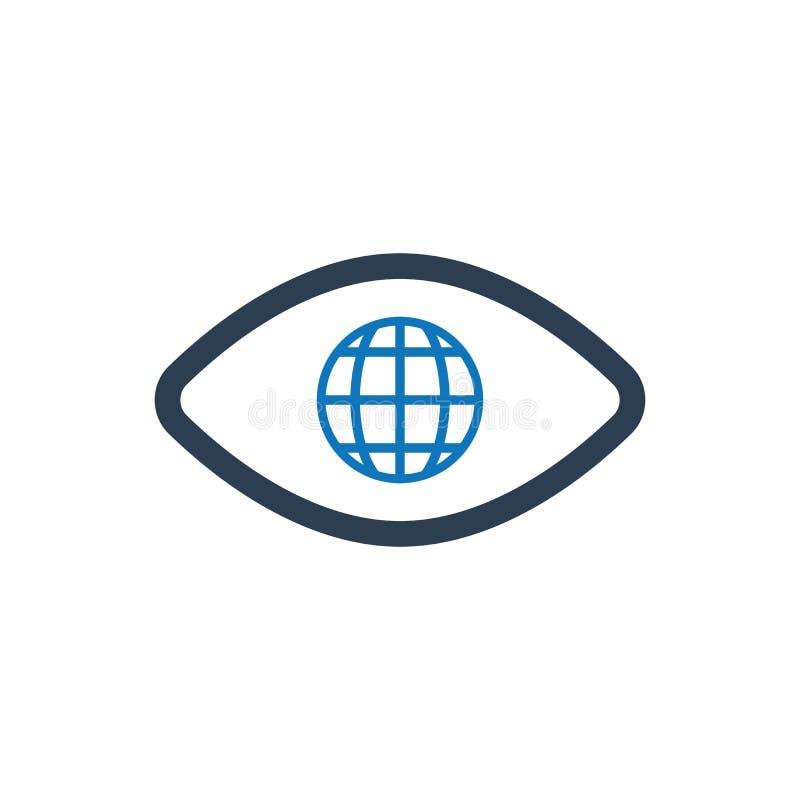 Icône globale de vision illustration libre de droits