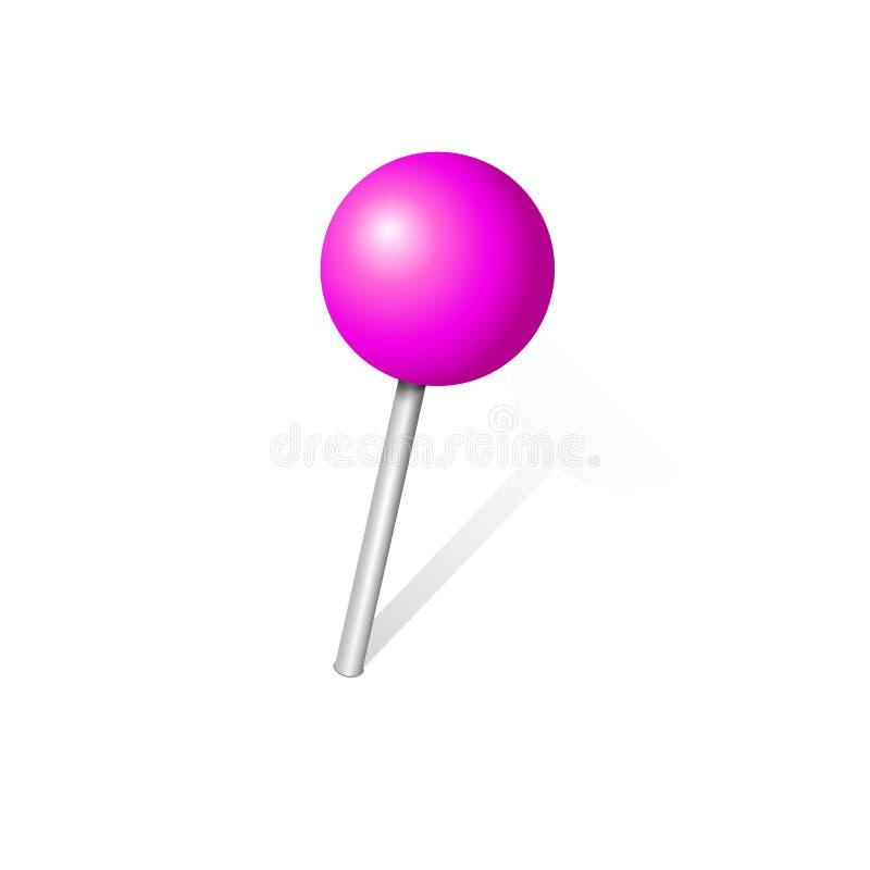 Icône globulaire de goupille de poussée illustration stock