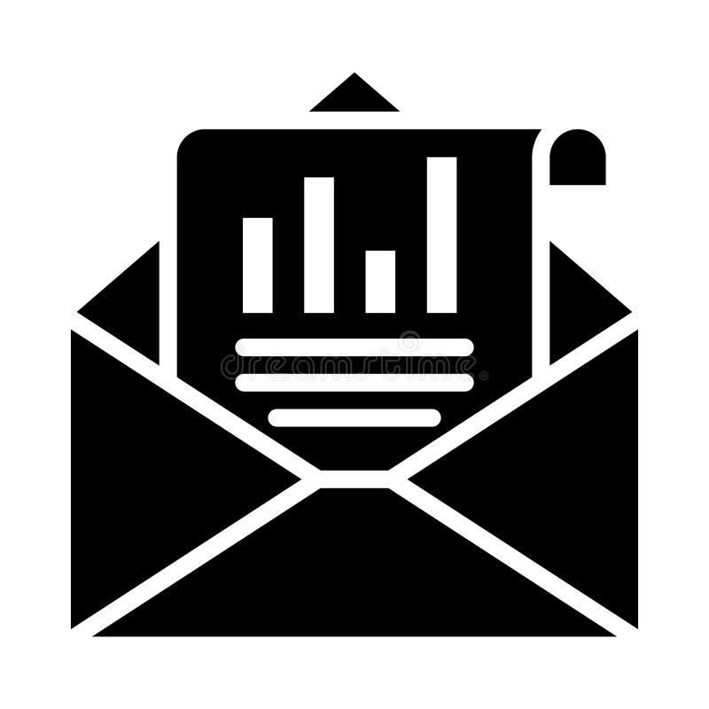 Icône Glyphe de courriel isolé Graphique Style dans EPS 10 simple glyphe élément business & office concept vecteur modifiable illustration libre de droits
