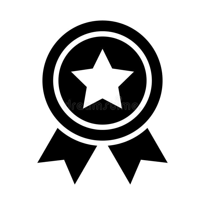 Icône Glyphe Star Badge isolé Graphique Style dans EPS 10 simple glyphe élément business & office concept vecteur modifiable illustration libre de droits