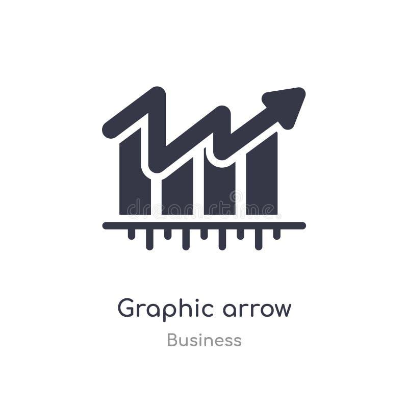 icône graphique d'ensemble de flèche ligne d'isolement illustration de vecteur de collection d'affaires icône graphique de flèche illustration libre de droits