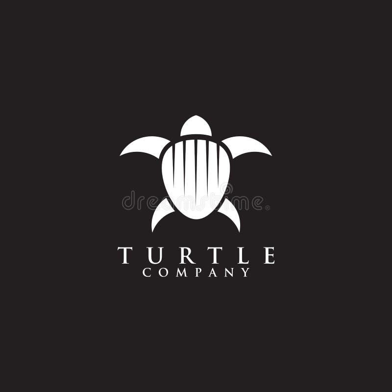 Icône graphique d'isolement par calibre de vecteur de conception de logo de tortue illustration de vecteur