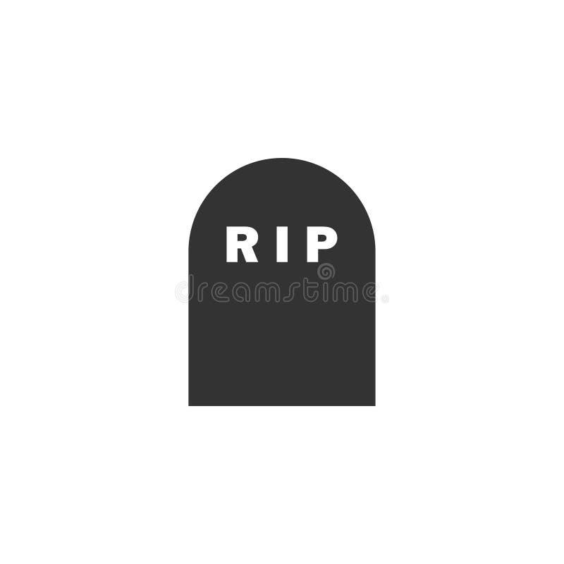 Icône grave plate illustration de vecteur