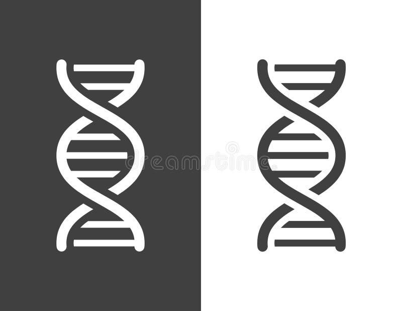 Icône gris-foncé d'hélice d'ADN de vecteur illustration libre de droits