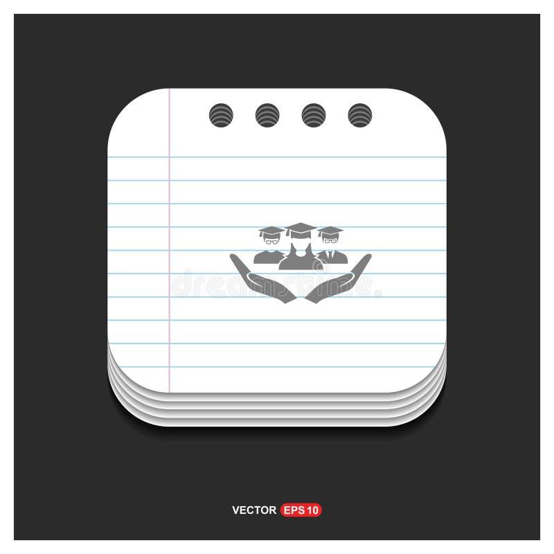 Icône grise d'icône disponible d'utilisateur sur le vecteur ENV de calibre de style de bloc-notes illustration de vecteur
