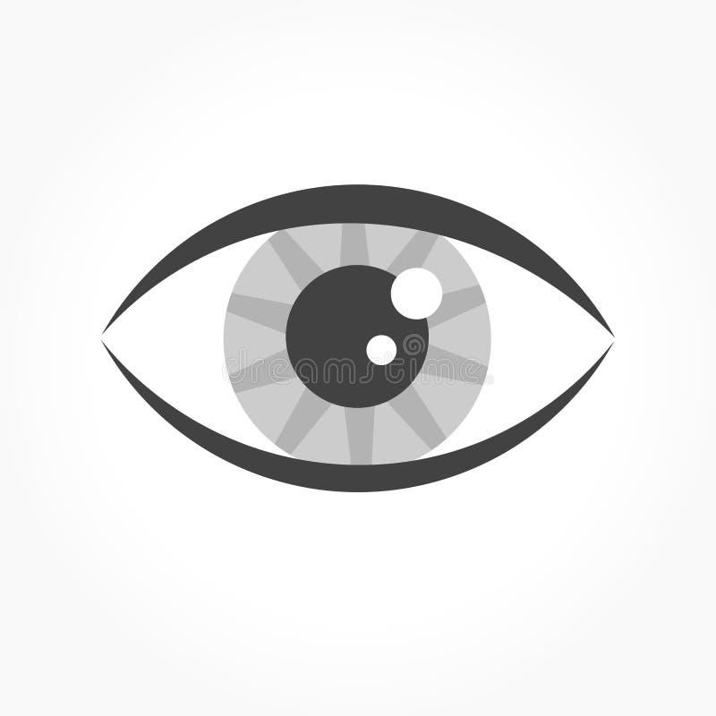 Icône grise d'oeil illustration de vecteur