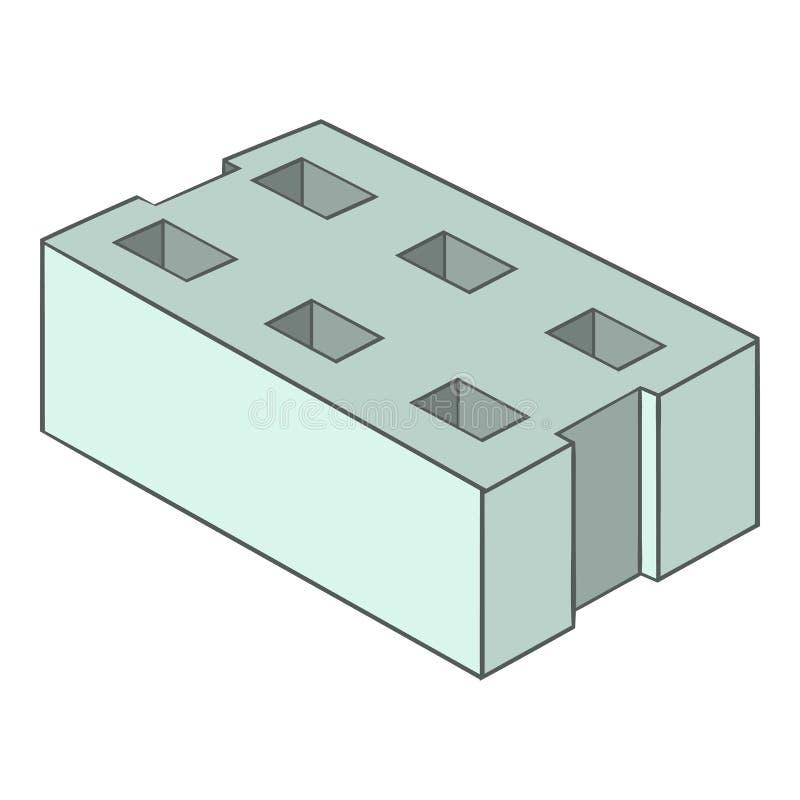 Icône grise de brique, style de bande dessinée illustration libre de droits
