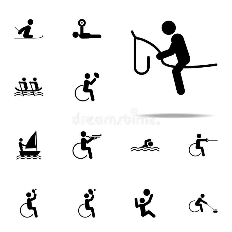 icône handicapée de cheval de sport ensemble universel d'icônes paralympic pour le Web et le mobile illustration stock