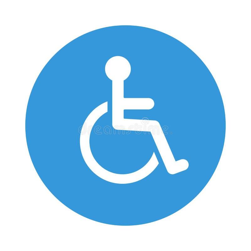 Icône handicapée de fauteuil roulant Vecteur de symbole de débronchement illustration de vecteur