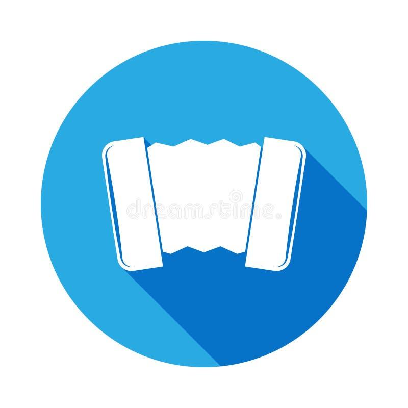 icône harmonique avec la longue ombre Élément d'illustration de musique Signe de la meilleure qualité de conception graphique de  illustration stock