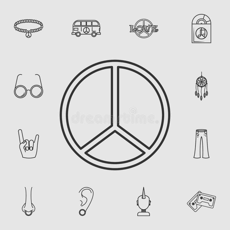 Icône hippie de symbole de paix Ensemble détaillé d'icônes de style de vie Conception graphique de qualité de la meilleure qualit illustration libre de droits