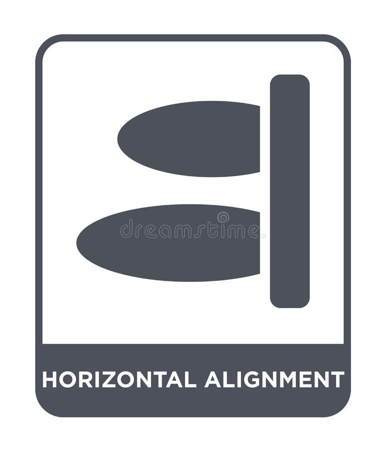 icône horizontale d'alignement dans le style à la mode de conception icône horizontale d'alignement d'isolement sur le fond blanc illustration stock