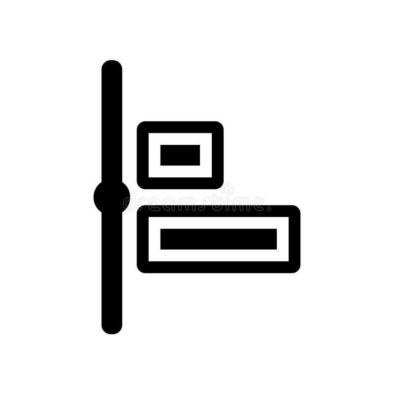 Icône horizontale d'alignement Logo horizontal à la mode d'alignement concentré illustration libre de droits
