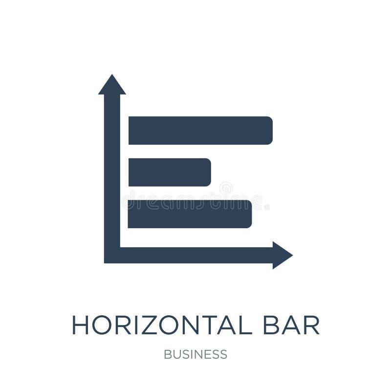 icône horizontale d'histogramme dans le style à la mode de conception icône horizontale d'histogramme d'isolement sur le fond bla illustration stock