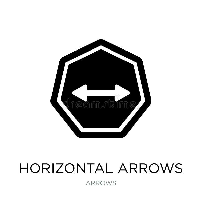 icône horizontale de flèches dans le style à la mode de conception Icône horizontale de flèches d'isolement sur le fond blanc Icô illustration libre de droits