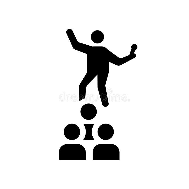 icône humaine déterminée Concept humain déterminé à la mode de logo sur W illustration de vecteur