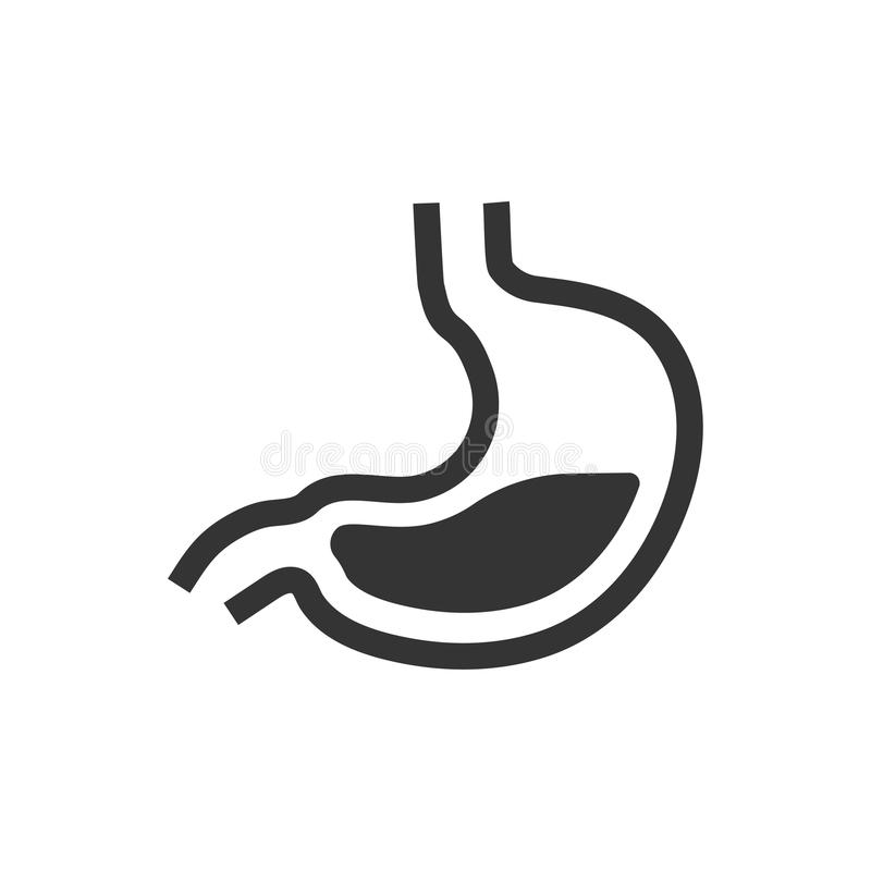 Icône humaine d'estomac illustration stock