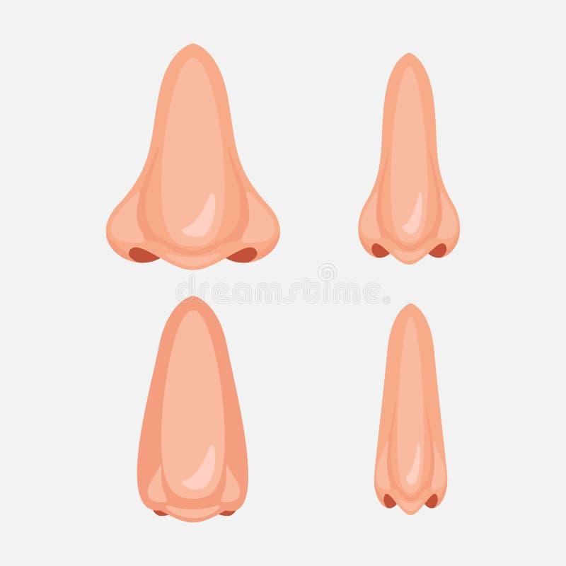 Icône humaine de nez illustration de vecteur
