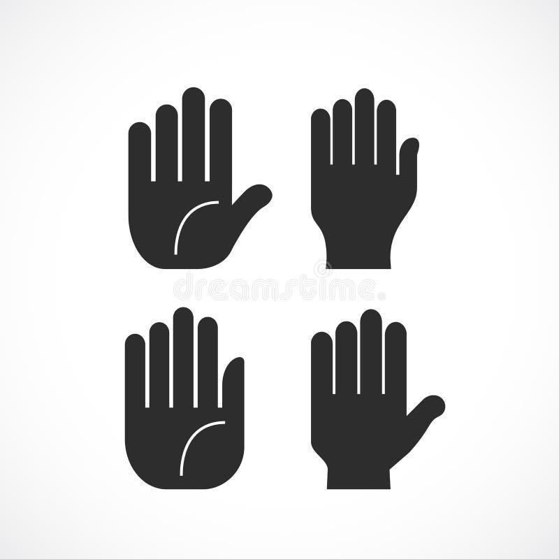 Icône humaine de paume de main illustration libre de droits