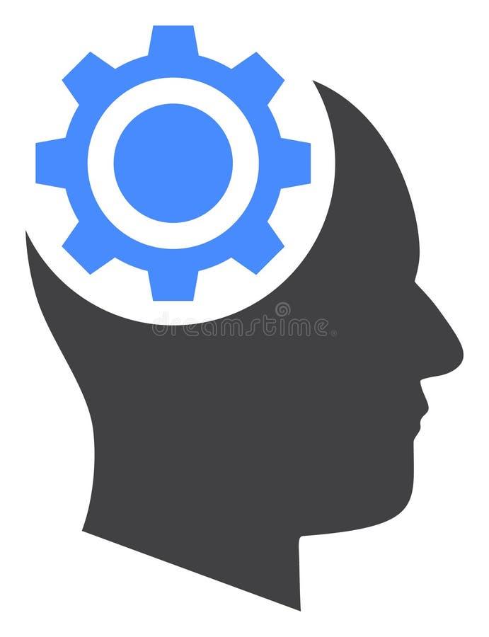Icône humaine de vitesse d'intellect de vecteur illustration stock