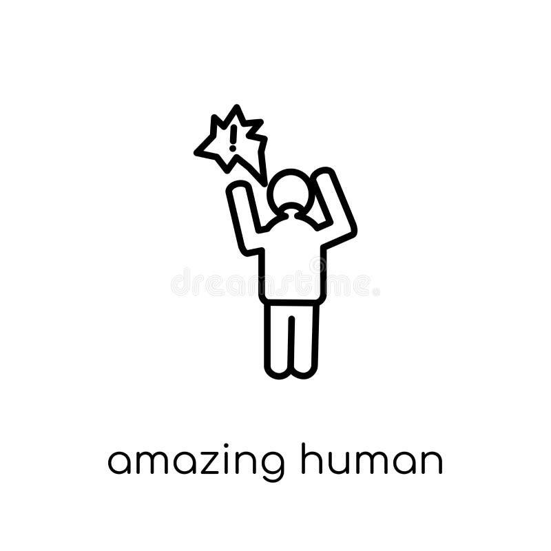 icône humaine stupéfiante Bourdonnement stupéfiant de vecteur linéaire plat moderne à la mode illustration libre de droits